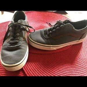 VANS Dark Grey and Brown size 5Y NWOT